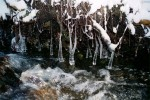 bubbling stream and icicles