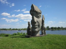 sculpture Monica (1985) by Jules Lasalle in Musée Plein Air de Lachine