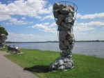 David Moore's 1994 sculpture Site/Interlude, Musée de Plein Air de Lachine
