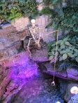 Hallowe'en skeleton at Montreal's Botanical Gardens