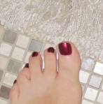bare foot on tiles