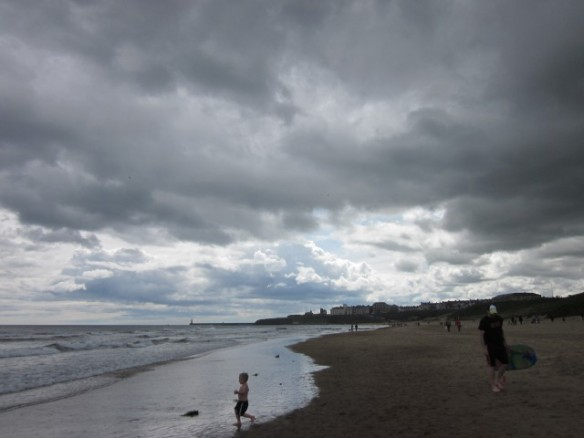 beach under cloud