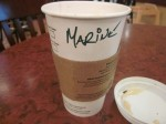 coffee cup with 'Marine'
