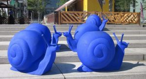 Blue Snails, Place des Spectacles, Montréal, July 2015