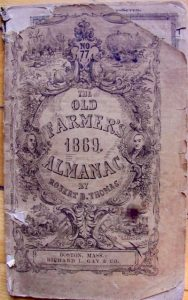 Old Farmer's Almanac 1869