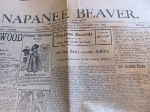 Napanee Beaver, 1901