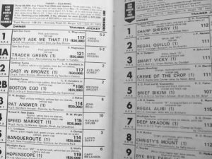 Woodbine Racetrack Program 5 June 1976