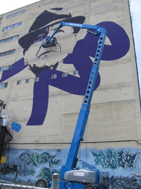 Leonard Cohen by Kevin Ledo (Canada), Montreal Mural Festival 2017