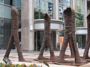 Walking Figures, Magdalena Abakanowicz (Poland), Montreal Balade pour la Pais/Outdoor Art Museum, 2017